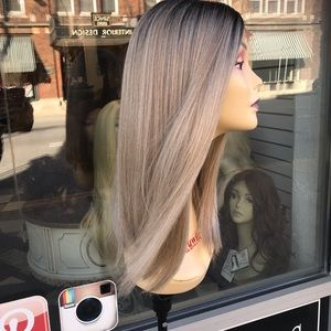 Ash Blonde 16 in Lacefront Wig Deep Part Baby hair